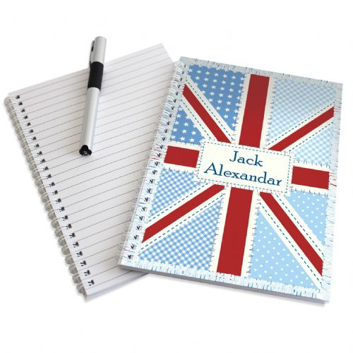Patchwork Union Jack A5 Notebook